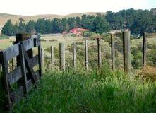 Härligt landskap, jordbruksmark, lantligt landskap arkivfoto