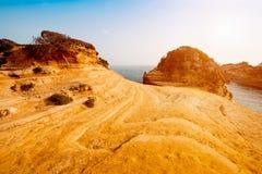Härligt landskap med den populära kanalen för klippor av ` A för förälskelsekanal D Royaltyfri Foto