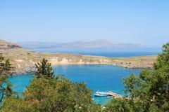 Härligt landskap med det blåa havet royaltyfri fotografi