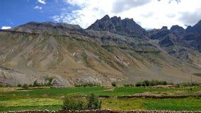 Härligt landskap med färgrik bakgrund royaltyfri bild