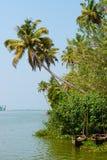Härligt landskap med fiskebåtar Royaltyfri Bild