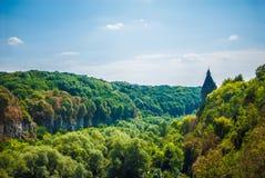 Härligt landskap med moln Royaltyfri Bild