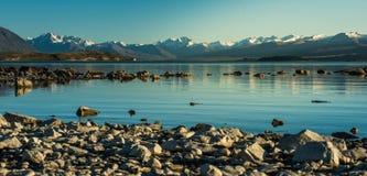 Härligt landskap Nya Zeeland. royaltyfri bild