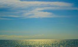 Härligt landskap och härlig blå himmel Fotografering för Bildbyråer