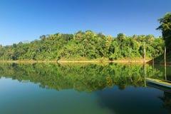 Härligt landskap på den kungliga Belum tropiska skogen i Malaysia Fotografering för Bildbyråer