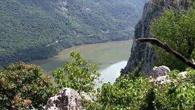 Härligt landskap på Donauklyftan arkivfilmer
