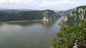 Härligt landskap på Donauklyftan stock video