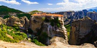 Härligt landskap på kanten av klipporna av dalen Arkivbilder