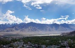 Härligt landskap på Leh, HDR Arkivbilder