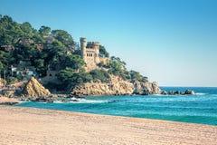 Härligt landskap på Lloret de Mar Royaltyfri Bild