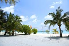 Härligt landskap på Maldive öar Arkivbild