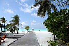 Härligt landskap på Maldive öar Royaltyfria Foton