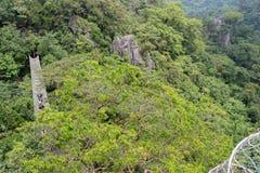 Härligt landskap på Masungi Georeserve, Rizal royaltyfri bild