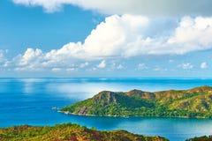 Härligt landskap på Seychellerna Royaltyfri Fotografi