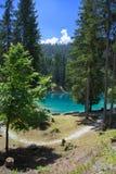 Härligt landskap på sjön Cauma i Schweiz Arkivfoto