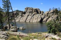 Härligt landskap på Sylvan Lake Royaltyfria Foton