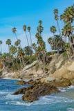Härligt landskap runt om Laguna Beach royaltyfri foto