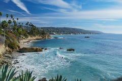 Härligt landskap runt om Laguna Beach arkivbild