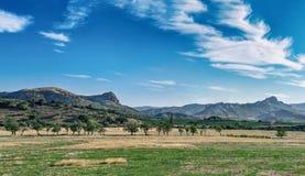 Härligt landskapsommarlandskap arkivbilder