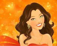 härligt le för flicka Royaltyfri Fotografi