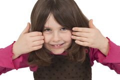 Härligt le för liten flicka Arkivfoto
