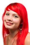 härligt le för redhead Arkivfoton