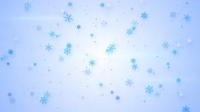 Härligt ljus - blått snöfall Arkivfoto