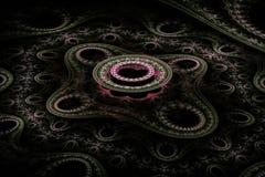 Härligt ljus - rund fractal för rosa färger Royaltyfri Bild