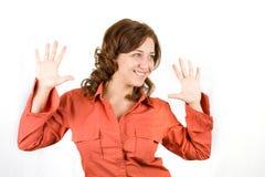 härligt lyckligt kvinnabarn Royaltyfri Foto