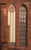 härligt mönstrat fönster arkivbild