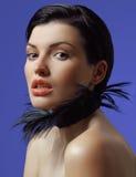 härligt makeupkvinnabarn Royaltyfria Bilder