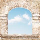 härligt marmorfönster Arkivbild