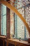 Härligt marockanskt fönster Arkivbild