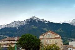 Härligt maximum av dolomiten i Merano, Italien Arkivfoto