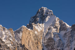 Härligt maximum av Karakorum bergskedja, K2 trek, Pakistan Royaltyfri Fotografi