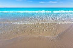 Härligt medelhavs- för Alicante San Juan strand Arkivbilder