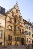 Härligt medeltida hus i den Colmar staden, Frankrike Arkivfoto