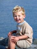 härligt min son Arkivfoto