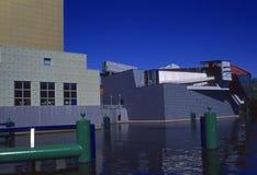 Härligt modern konstmuseum Groningen Nederländerna Arkivbild