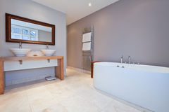 härligt modernt för badrum royaltyfri fotografi