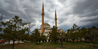 Härligt moln på en moské Royaltyfri Foto