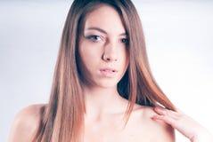 härligt naket skulderkvinnabarn Royaltyfria Bilder