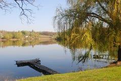 Härligt naturlandskap, bro royaltyfri bild