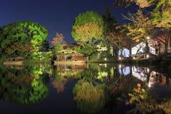 Härligt nedgånglandskap runt om Kyoto Arkivfoto
