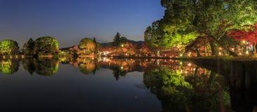 Härligt nedgånglandskap runt om Kyoto Arkivfoton