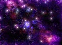 Härligt oändligt universum för stjärnklar himmel som är fantastiskt och Royaltyfria Bilder