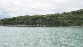 Härligt och tomt hav i Thailand Arkivfoton