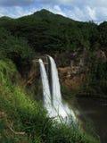 Härligt omge av Wailua faller, Kauai, Hawaii royaltyfri fotografi