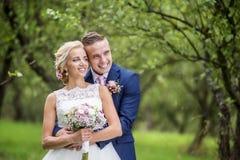 härligt parbröllop Royaltyfria Bilder