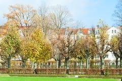 Härligt parkera i den soliga dagen, Tyskland Arkivfoto